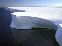 Antarctic ice wall