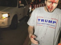 trump supporter attacked for wearing trump shirt