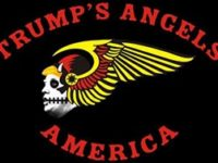 bikers for trump flag